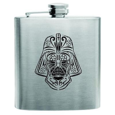 Day of the Dead Darth Vader Stainless Steel Hip Flask 6oz