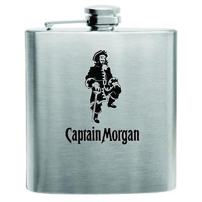 Captain Morgan Stainless Steel Hip Flask 6oz