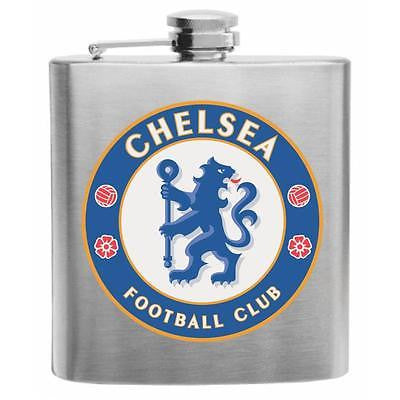 ChelseaFootball Club Stainless Steel Hip Flask 6oz