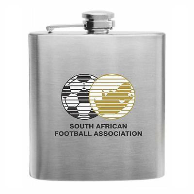 South Africa Football Stainless Steel Hip Flask 6oz