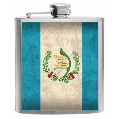 Guatemala Flag Stainless Steel Hip Flask 6oz