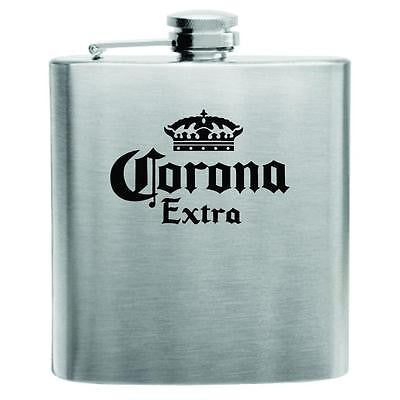 Corona Stainless Steel Hip Flask 6oz