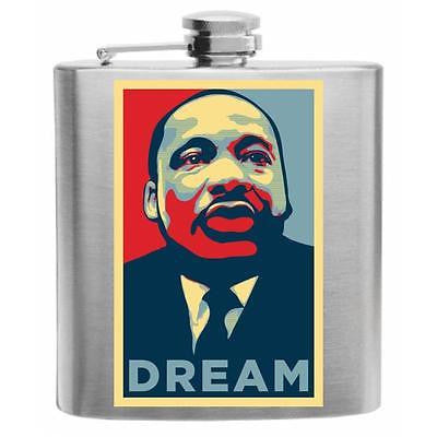Martin Luther King Jr. Dream Stainless Steel Hip Flask 6oz