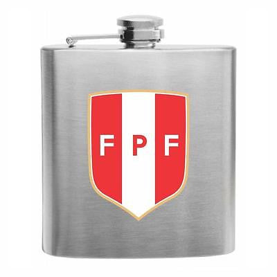 Peru Football Stainless Steel Hip Flask 6oz