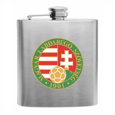 Hungary Football Stainless Steel Hip Flask 6oz