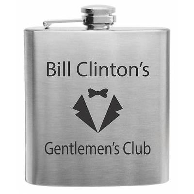 Bill Clinton's Gentleman's Club Stainless Steel Hip Flask 6oz