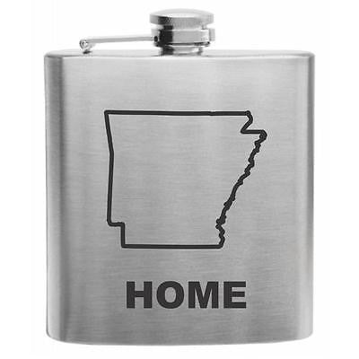 Arkansas Home State Flask