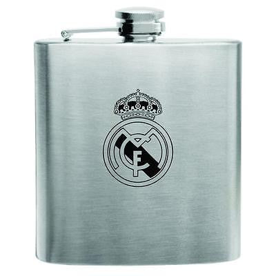 Real Madrid Stainless Steel Hip Flask 6oz