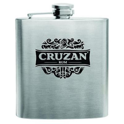Cruzan Rum Stainless Steel Hip Flask 6oz