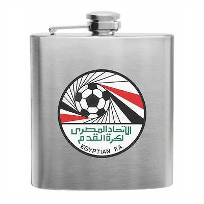 Egypt Football Stainless Steel Hip Flask 6oz