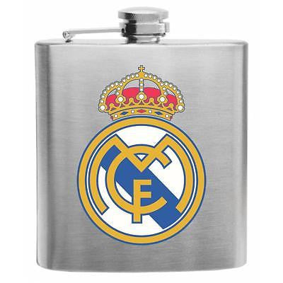 Real Madrid Soccer Stainless Steel Hip Flask 6oz
