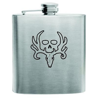 Bone Collector Deer Stainless Steel Hip Flask 6oz