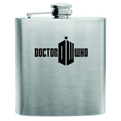 Doctor Who Stainless Steel Hip Flask 6oz