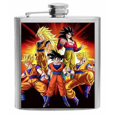 Dragon Ball Z DBZ Stainless Steel Hip Flask 6oz