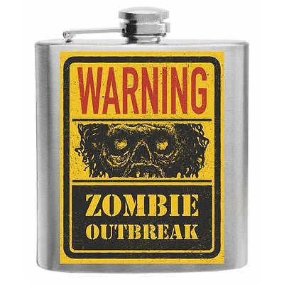 Walking Dead Zombie Outbreak Stainless Steel Hip Flask 6oz