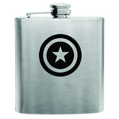 Captain America Stainless Steel Hip Flask 6oz