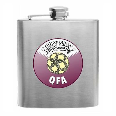 Qatar Football Stainless Steel Hip Flask 6oz
