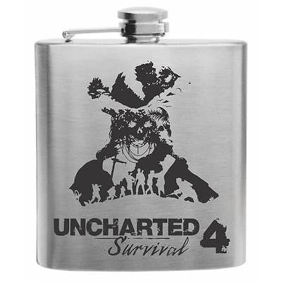 Uncharted 4 Survival Flask Stainless Steel Hip Flask 6oz