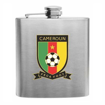 Cameroon Football Stainless Steel Hip Flask 6oz