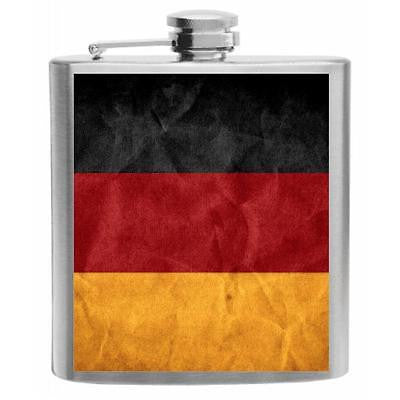 Germany Flag Stainless Steel Hip Flask 6oz