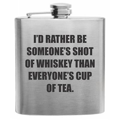 Someone's Shot of Whiskey Stainless Steel Hip Flask 6oz