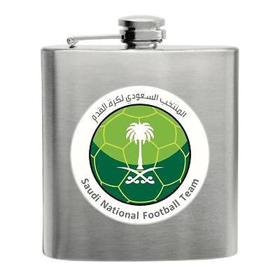 Saudi Arabia Football Stainless Steel Hip Flask 6oz