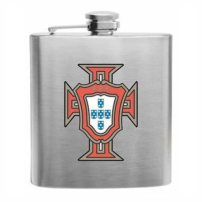 Portugal Football Stainless Steel Hip Flask 6oz