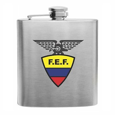 Ecuador Football Stainless Steel Hip Flask 6oz