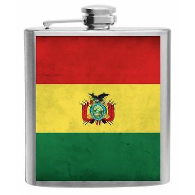 Bolivia Stainless Steel Hip Flask 6oz