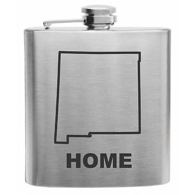 New Mexico Home State Stainless Steel Hip Flask 6oz