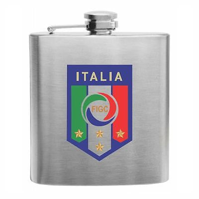Italy Soccer Stainless Steel Hip Flask 6oz