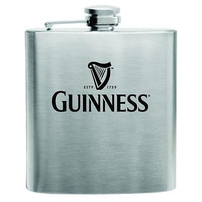 Guinness Stainless Steel Hip Flask 6oz
