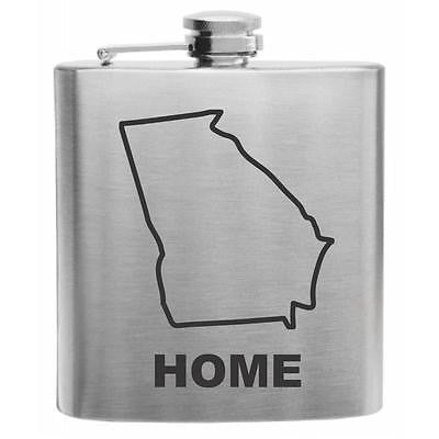 Georgia Home State Stainless Steel Hip Flask 6oz