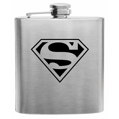 Superman Stainless Steel Hip Flask 6oz