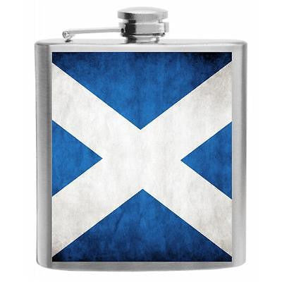 Scotland Flag Stainless Steel Hip Flask 6oz