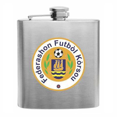 Curacao Football Stainless Steel Hip Flask 6oz