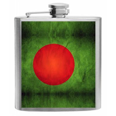 Bangladesh Flag Stainless Steel Hip Flask 6oz