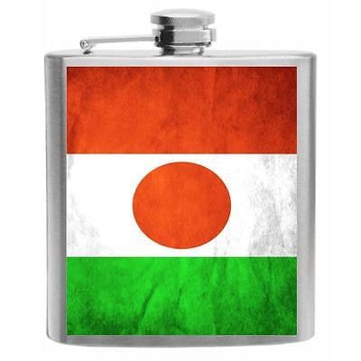 Niger Flag Stainless Steel Hip Flask 6oz