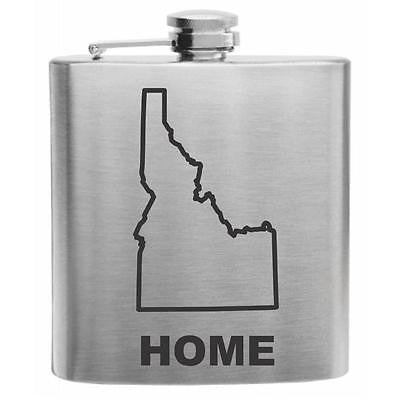 Idaho Home State Stainless Steel Hip Flask 6oz