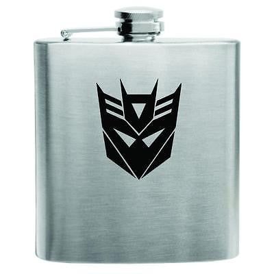 Transformers Decepticon Stainless Steel Hip Flask 6oz