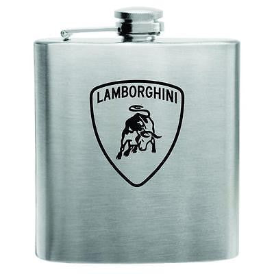 Lamborghini Stainless Steel Hip Flask 6oz