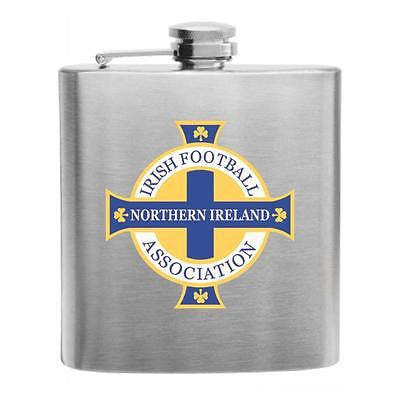 Northern Ireland Football Stainless Steel Hip Flask 6oz