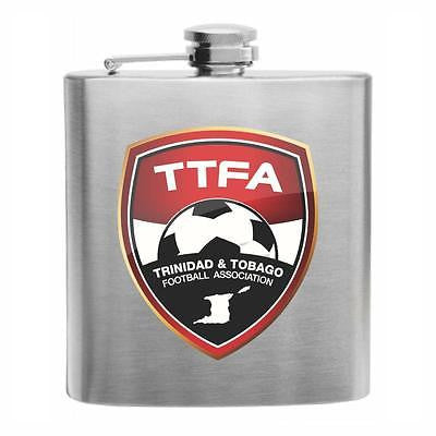 Trinidad & Tobago Football Stainless Steel Hip Flask 6oz
