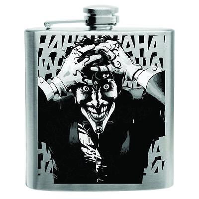 The Joker Batman Stainless Steel Hip Flask 6oz