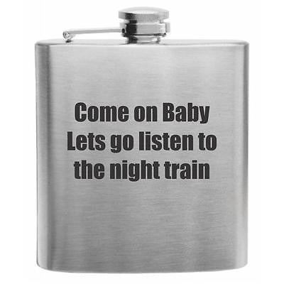 The Night Train Stainless Steel Hip Flask 6oz