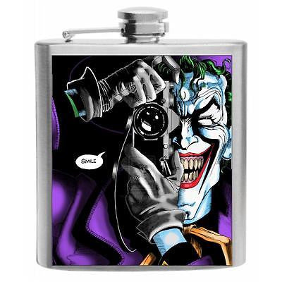 The Killing Joke Joker Stainless Steel Hip Flask 6oz
