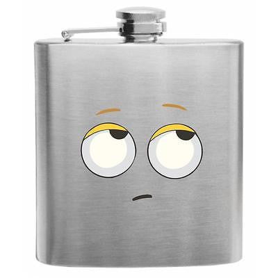 Emoji Fed Up Face Stainless Steel Hip Flask 6oz