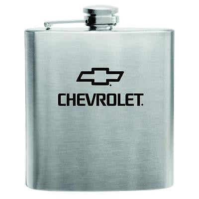 Chevrolet Stainless Steel Hip Flask 6oz