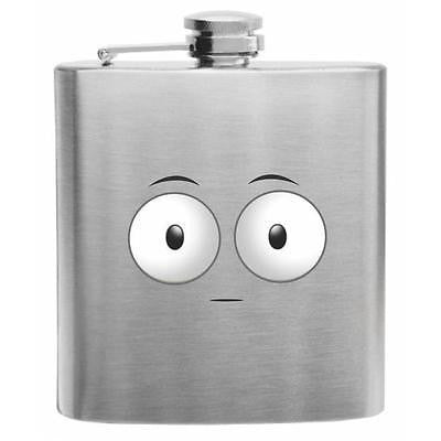 Emoji Flushed Face Stainless Steel Hip Flask 6oz