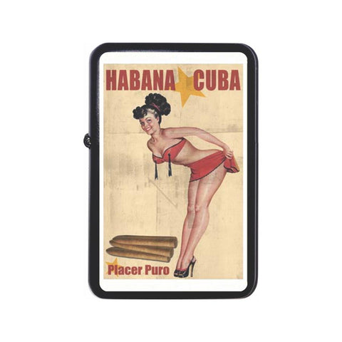 Havana Cuba Placer Puro Black Z Plus 2 Vertigo Lighter